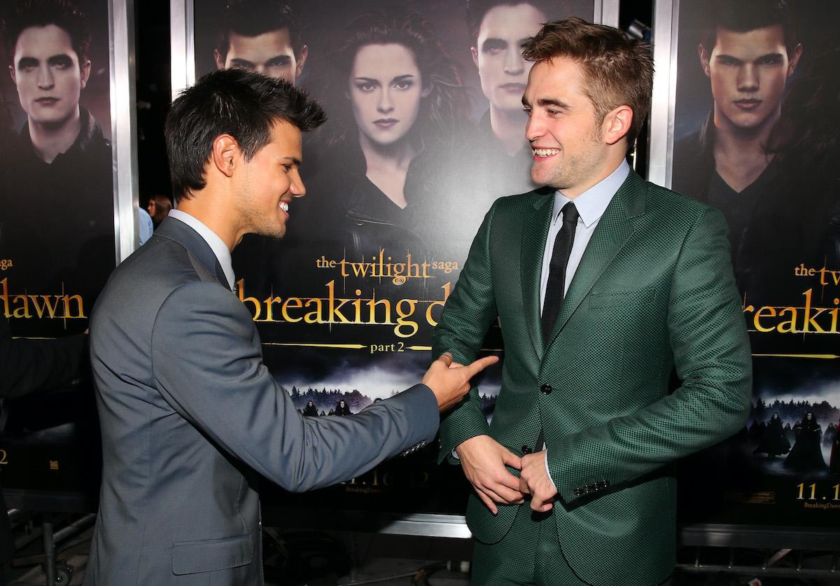 Twilight stars Taylor Lautner and Robert Pattinson