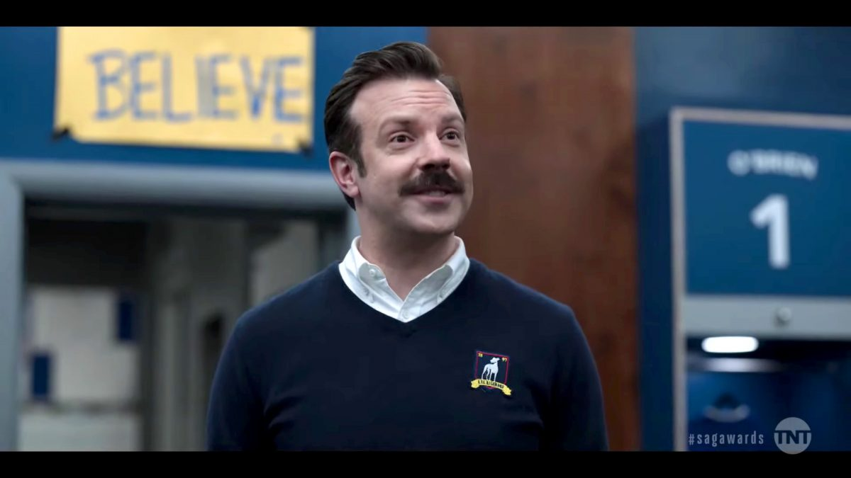 Jason Sudeikis as Ted Lasso in the Apple TV+ 'Ted Lasso' series