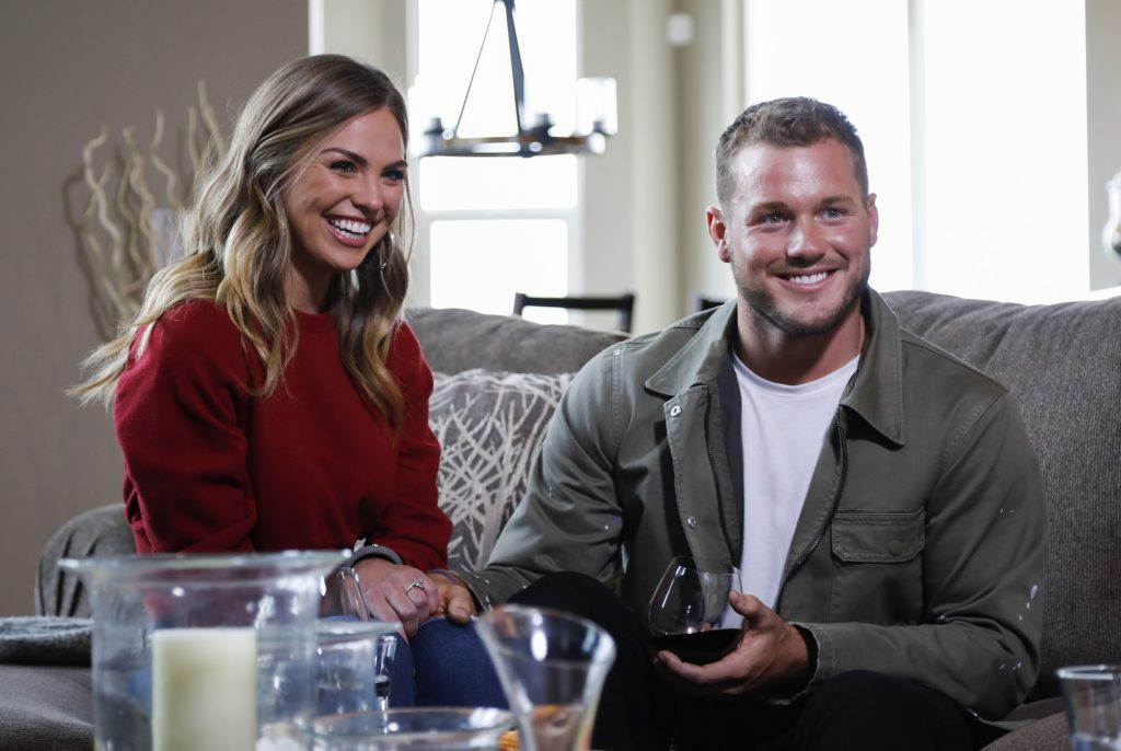 Hannah Brown and Colton Underwood laughing despite all of the 'Bachelor' rules