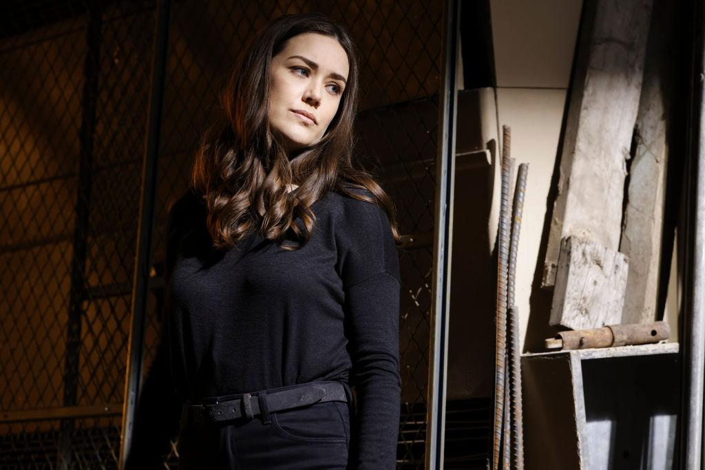 Megan Boone as Liz Keen looks forlorne as she's dressed all in black.