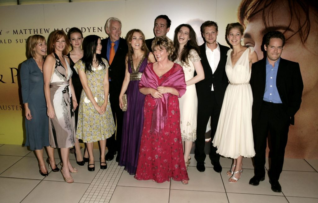 Carey Mulligan and the rest of the cast of 'Pride & Prejudice' at the UK premiere