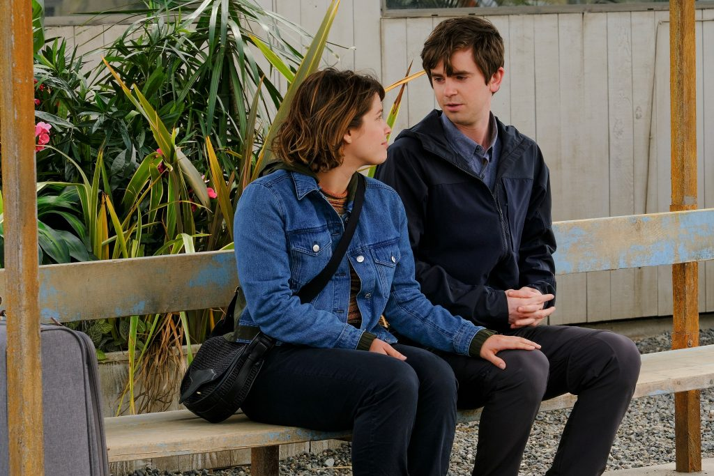 Paige Spara and Lea Dilallo and Freddie Highmore as Shaun Murphy on 'The Good Doctor