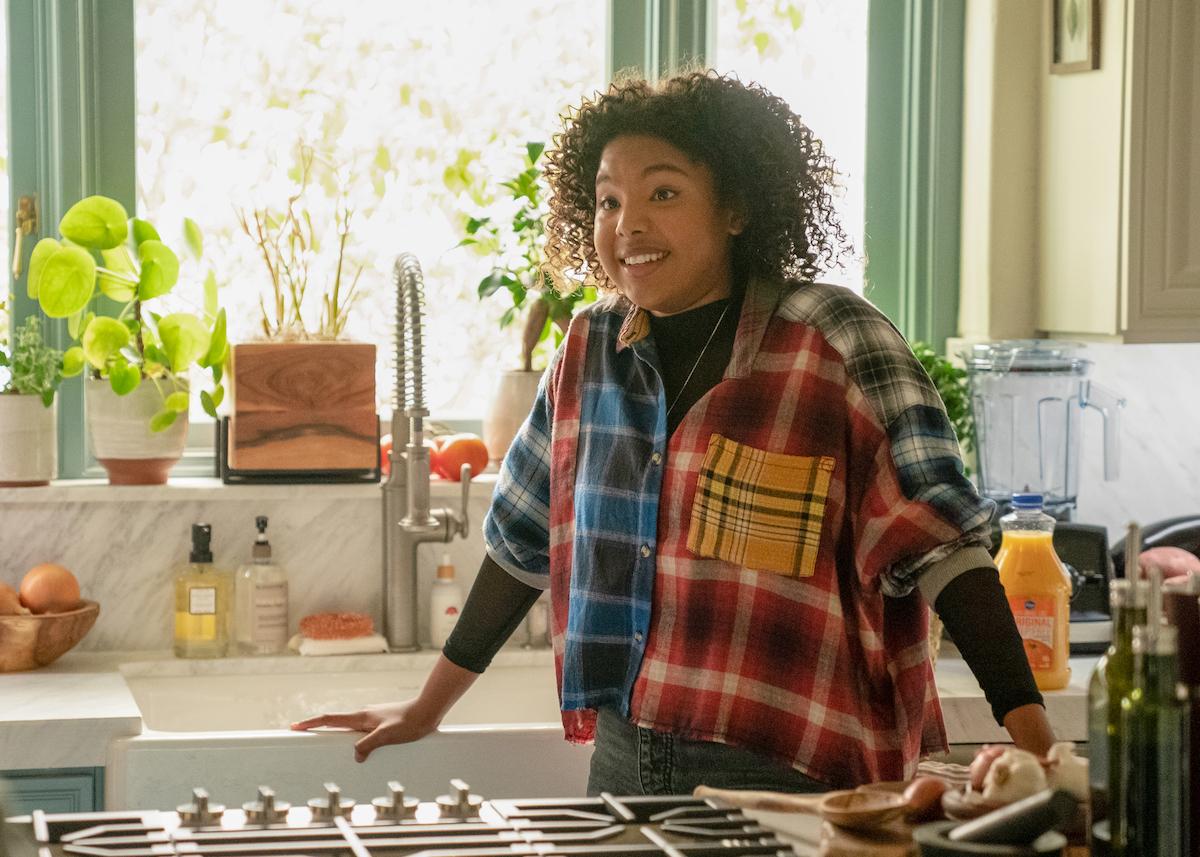 Jordan Hull as Angie, wearing a plaid shirt, in 'The L Word: Generation Q' Season 2