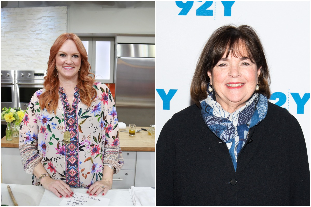 (L-R): 'The Pioneer Woman' star Ree Drummond and 'The Barefoot Contessa' star Ina Garten smiling while looking at the camera.