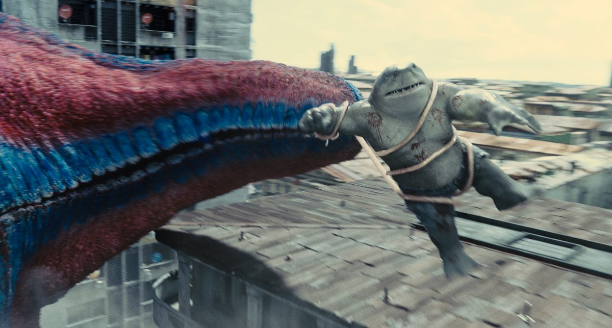 The Suicide Squad: Starfish grabs King Shark