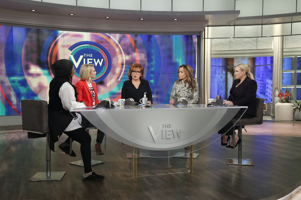 The View cast during a live taping in 2020