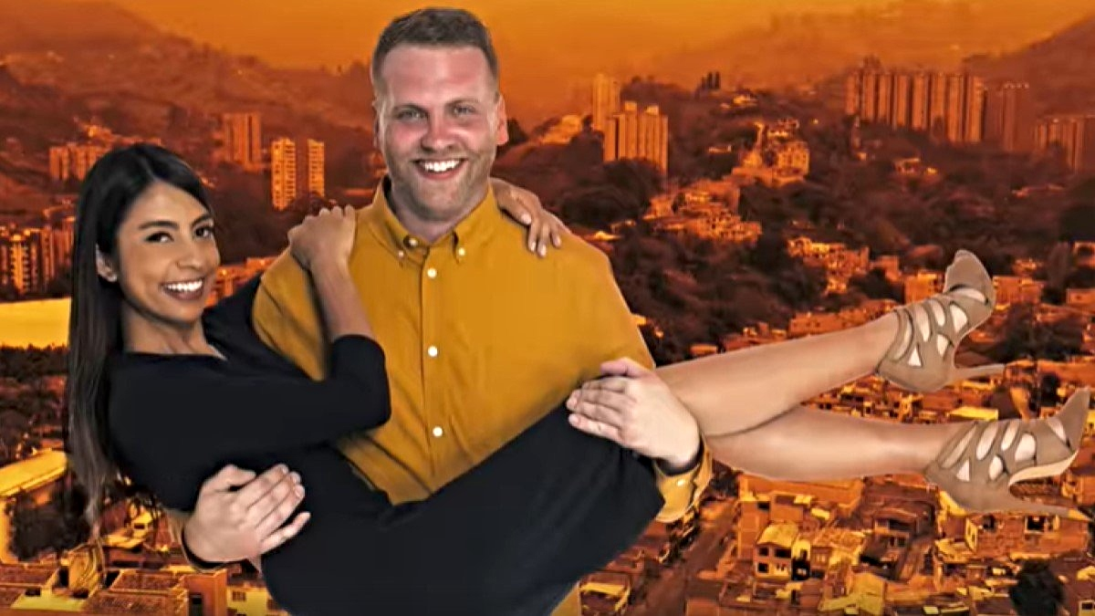 Tim holding Melyza on 90 Day Fiancé: The Other Way