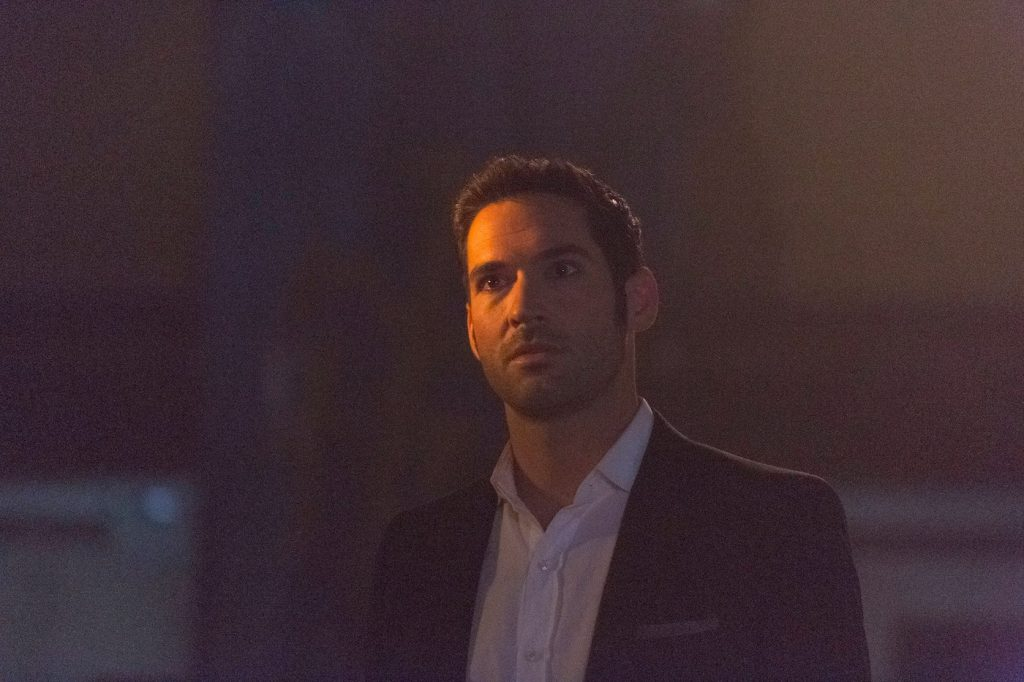 Actor Tom Ellis as Lucifer in the 'Weaponizer' episode of 'Lucifer' Season 2