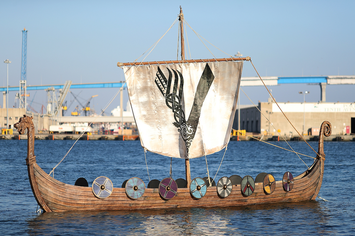 'Vikings' ship at San Diego Comic Con 2017 on July 21, 2017 in San Diego, California