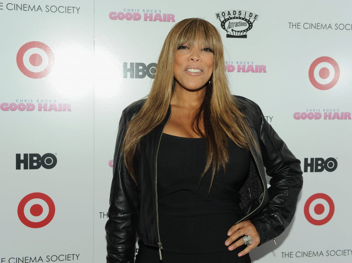 'The Wendy Williams Show' host Wendy Williams smiling while wearing her wedding ring at an event.