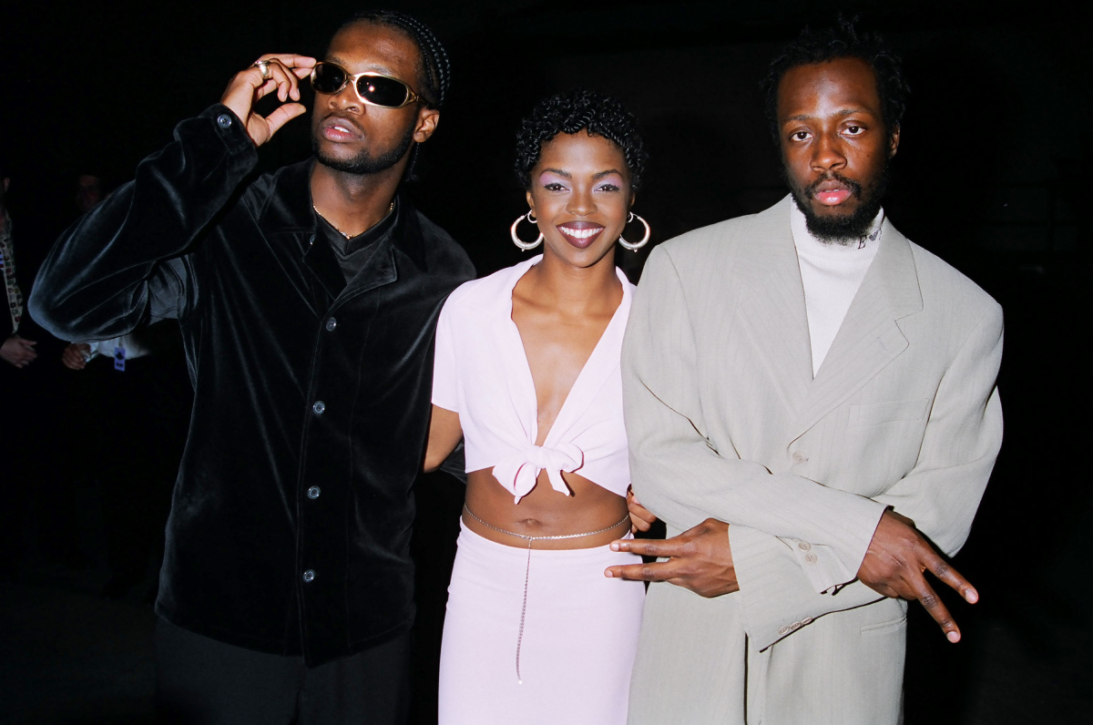 Pras, Lauryn Hill and Wyclef Jean of the Fugees on September 7, 1996