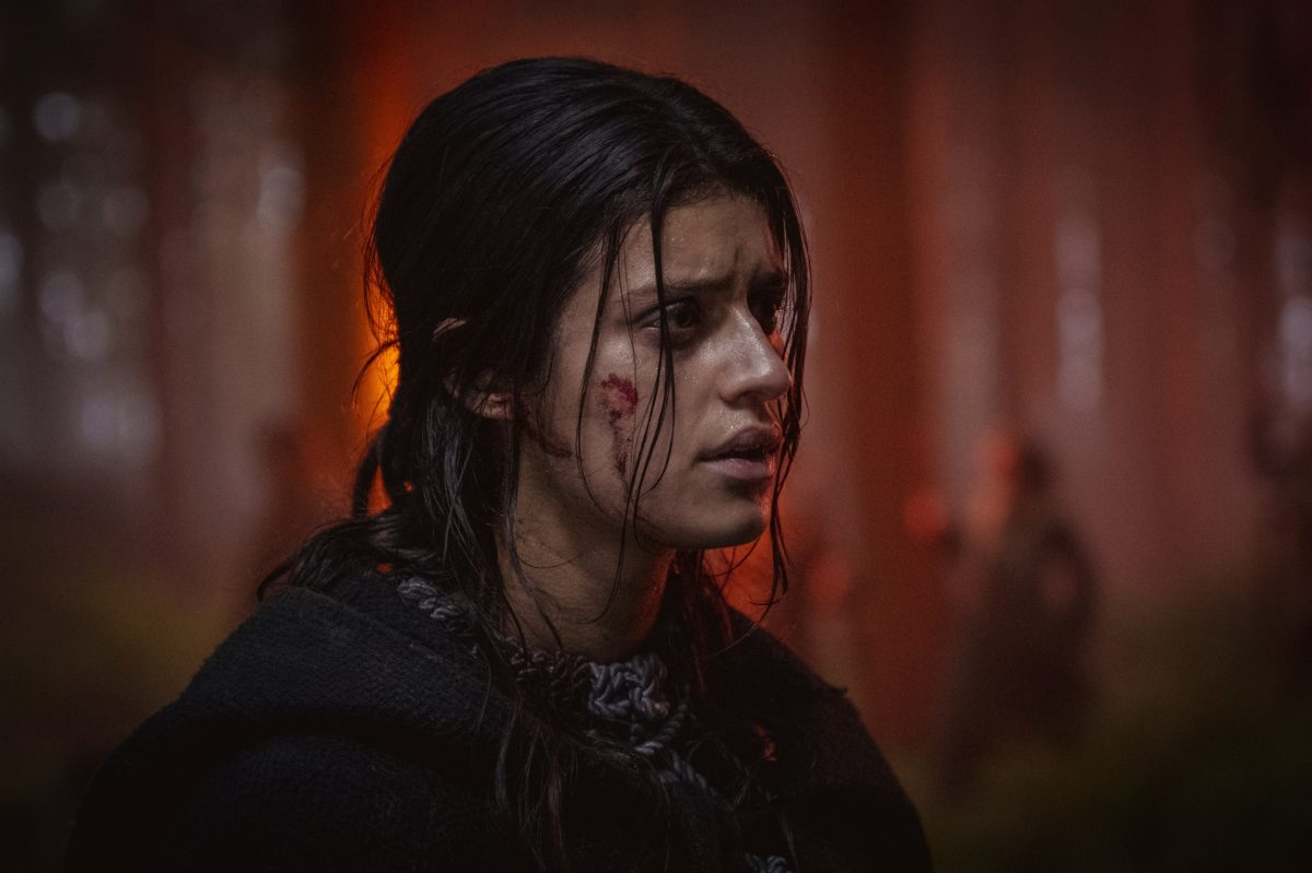 'The Witcher' Season 2 image of Yennefer of Vengerberg with blood on her face