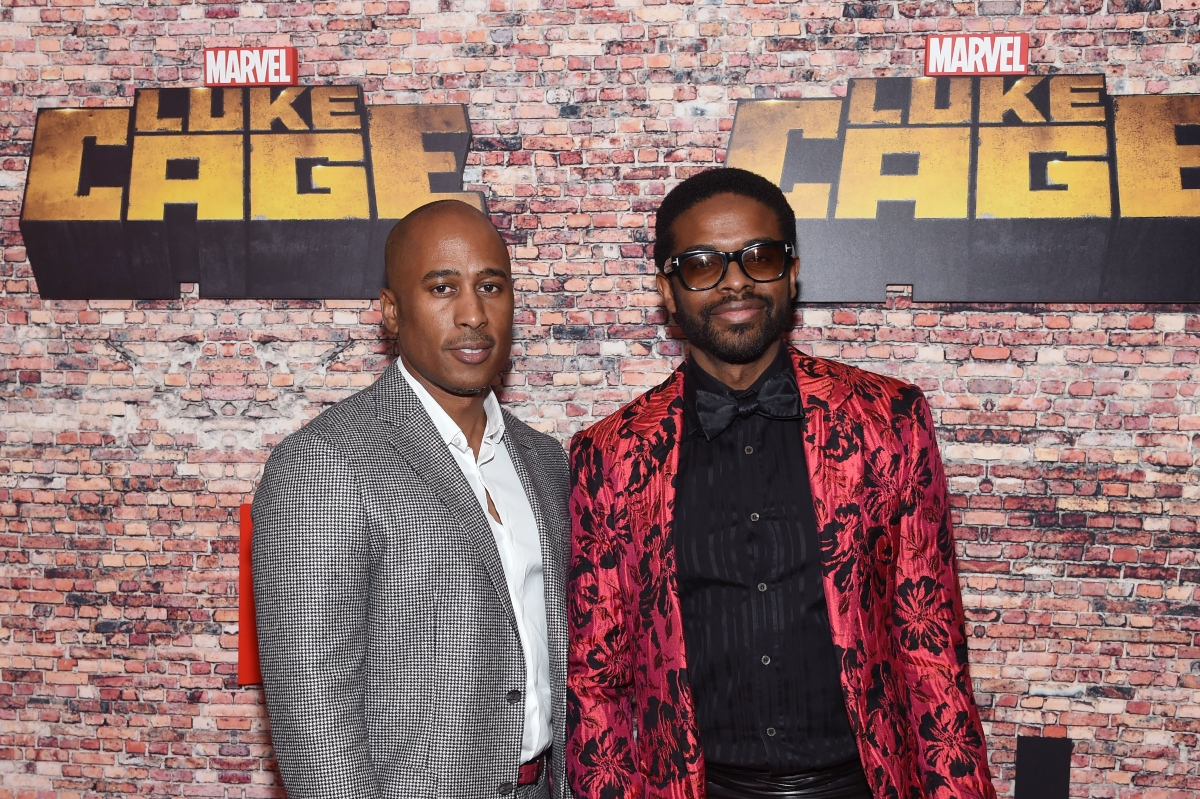 Ali Shaheed Muhammed and Adrian Younge attend the 'Luke Cage New York premiere on September 28, 2016 in New York City