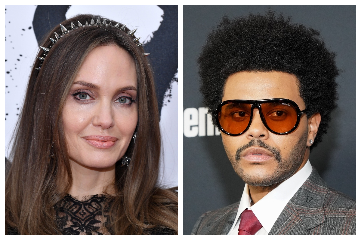 Composite image of Angelina Jolie (L) and the Weeknd (R)