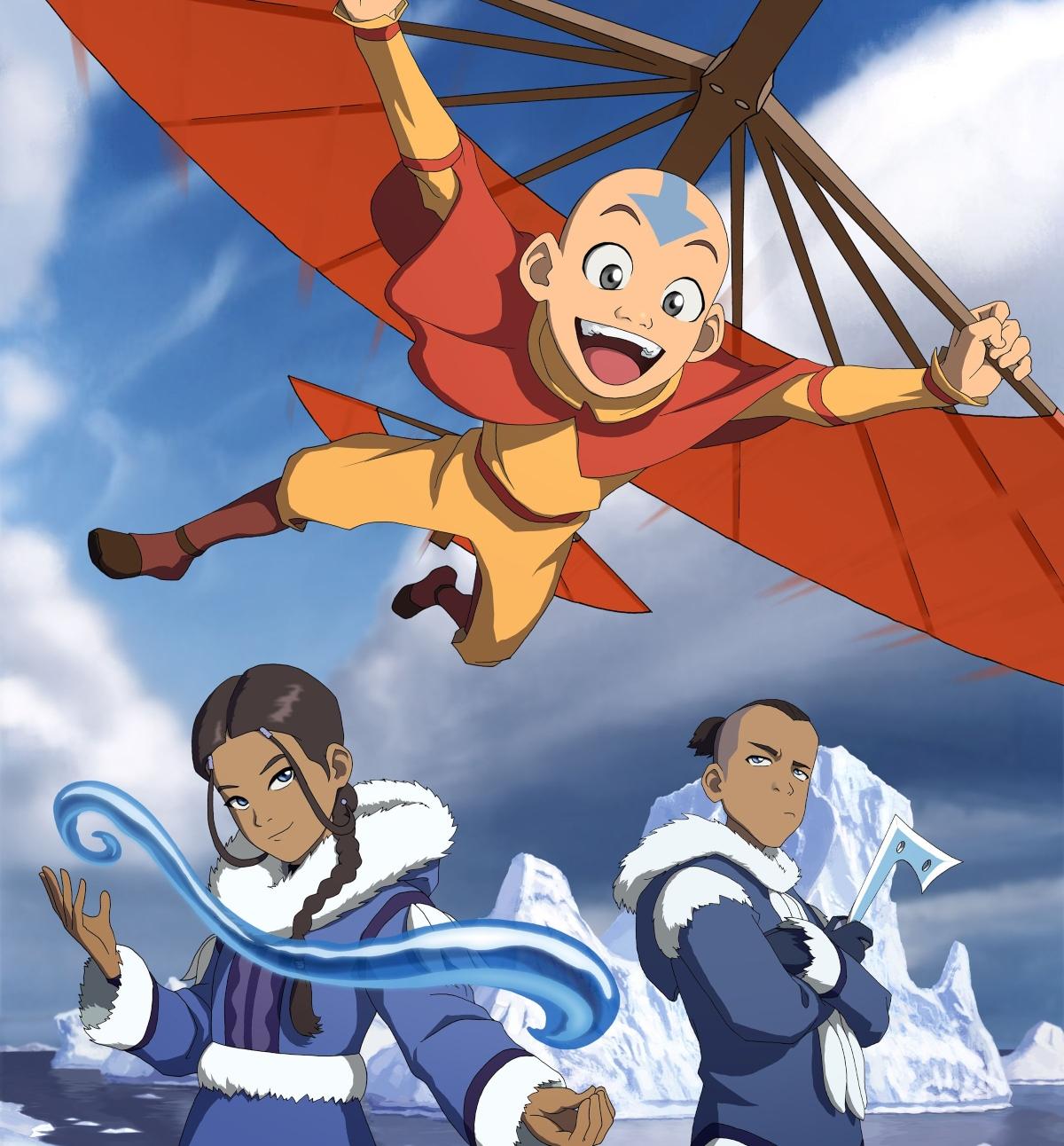 'Avatar: The Last Airbender' with Aang, Katara, and Sokka