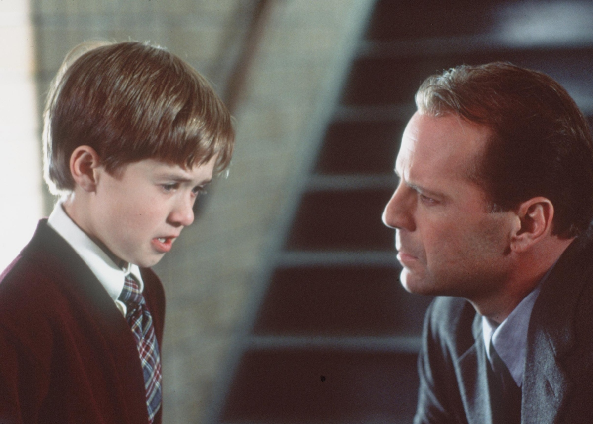 Bruce Willis and Haley Joel Osment in 'The Sixth Sense'