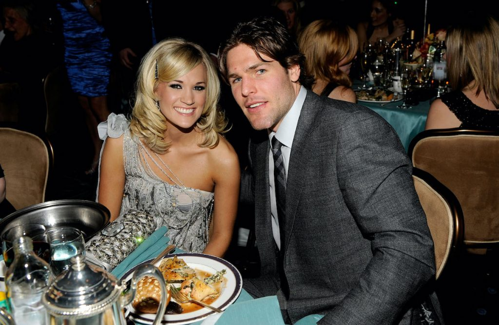 Carrie Underwood and Mike Fisher at one of their first public appearances together in 2010