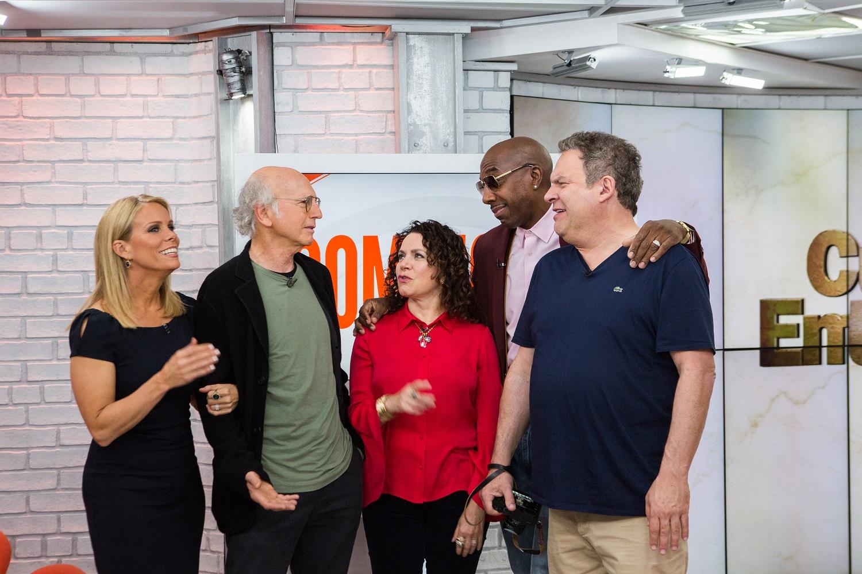 Curb Your Enthusiasm stars Larry David, Jeff Garlin, Cheryl Hines, Susie Essman, and J.B. Smoove