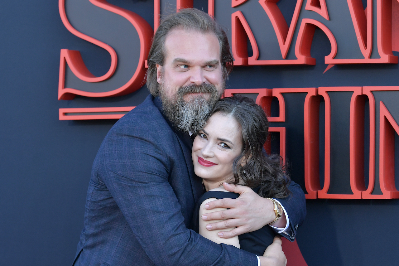 """David Harbour and Winona Ryder attend the premiere of Netflix's """"Stranger Things"""" Season 3"""
