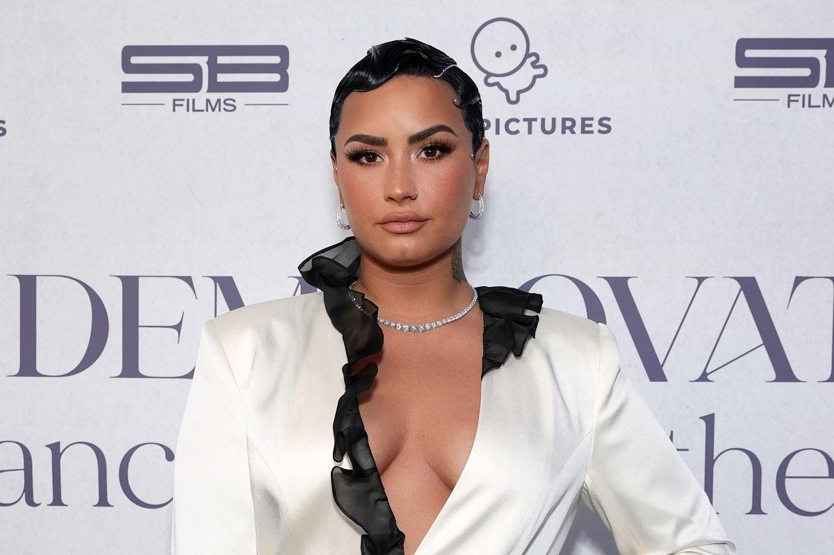 Demi Lovato attends the OBB Premiere Event for YouTube Originals Docuseries 'Demi Lovato: Dancing With The Devil' on March 22, 2021, in Beverly Hills, California.