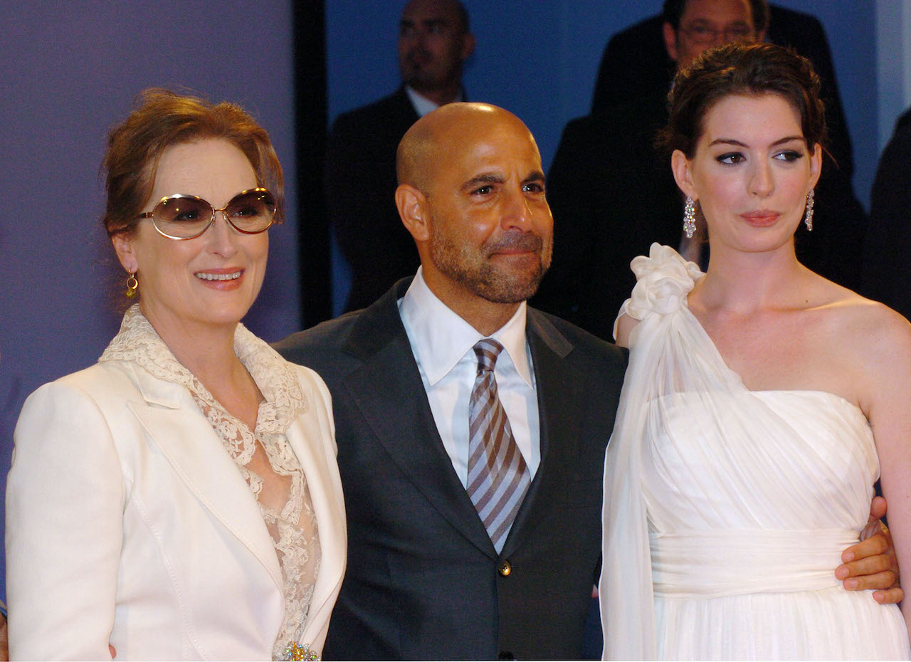 "Meryl Streep, Stanley Tucci and Anne Hathaway during The 63rd International Venice Film Festival - ""The Devil Wears Prada"""