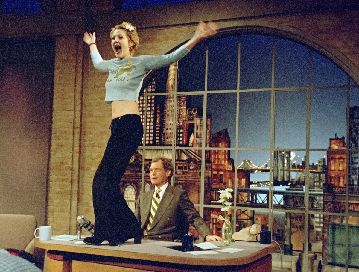 Drew Barrymore on 'Late Show with David Letterman', 1995