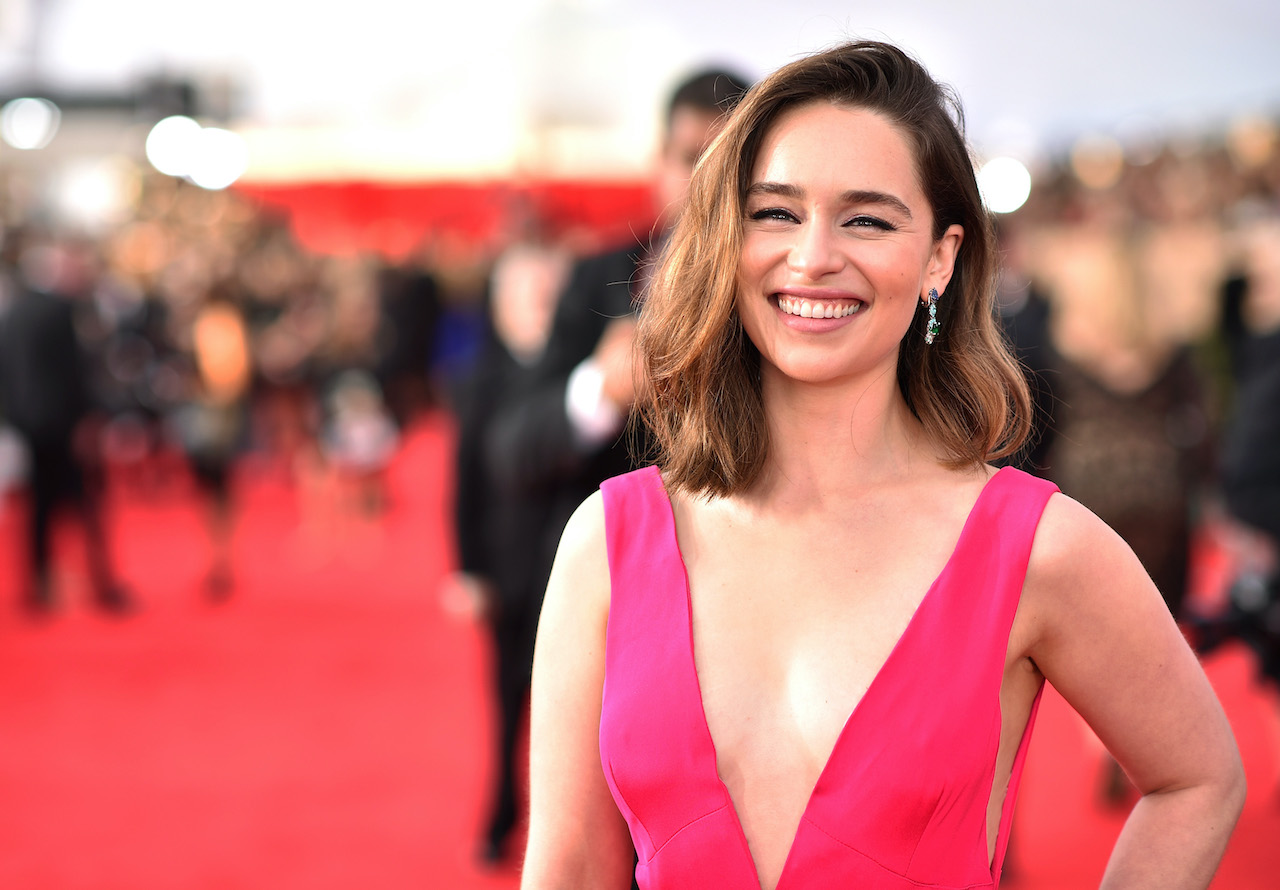 Emilia Clark attends The 22nd Annual Screen Actors Guild Awards at The Shrine Auditorium