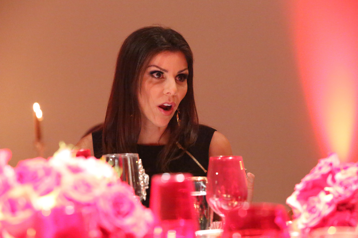 Heather Dubrow looking annoyed during a scene from 'RHOC' Season 8