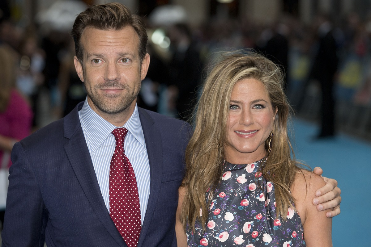 (L-R): Jason Sudeikis and Jennifer Aniston attend the European premiere of 'We're The Millers' on August 14, 2013, in London, England.