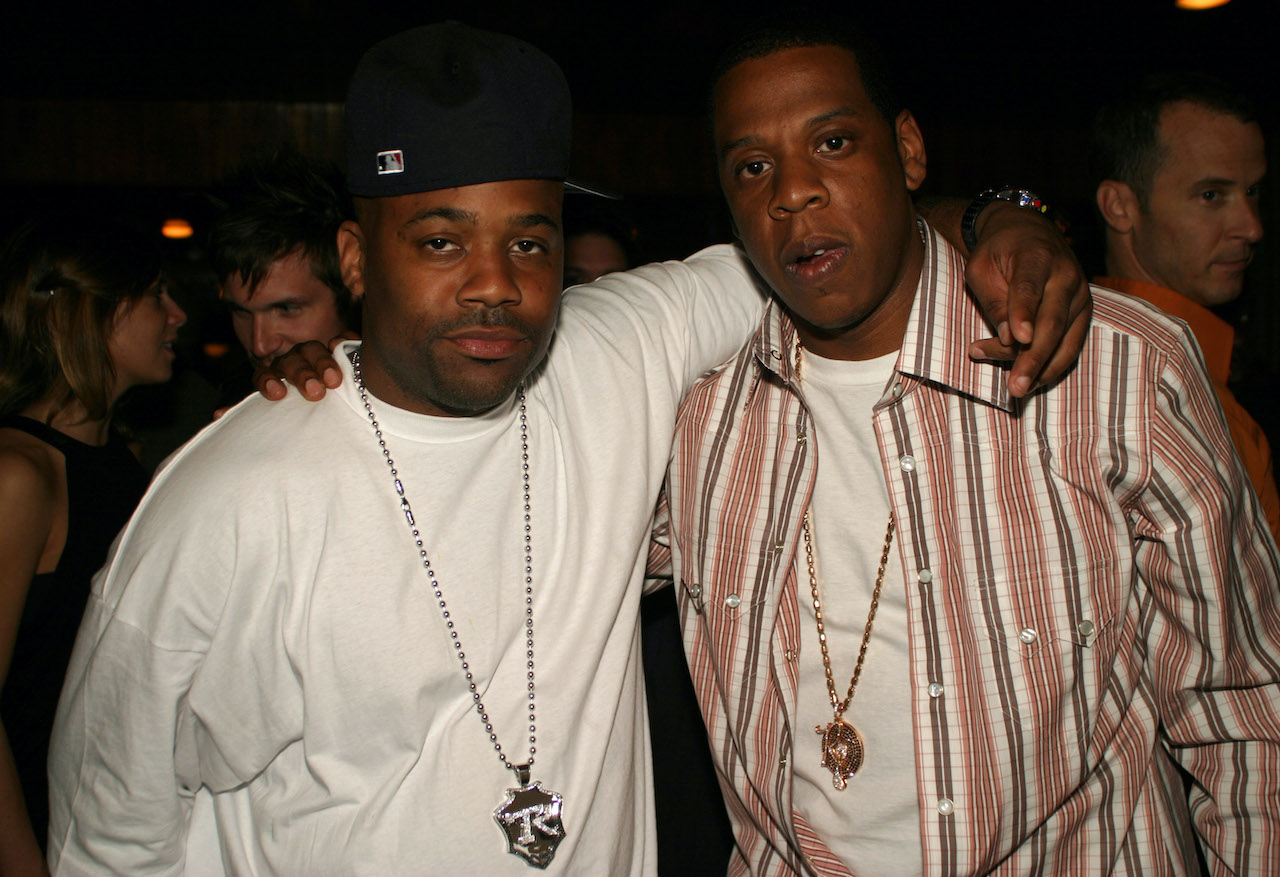 Damon Dash and Jay-Z during Damon Dash's Birthday Party in 2004