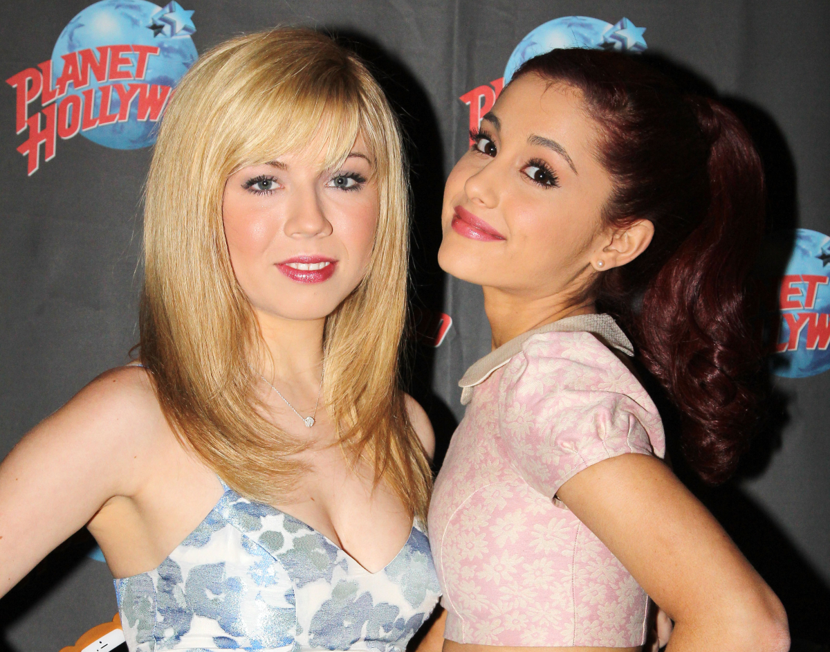 Jennette McCurdy and Ariana Grande promote Nickelodeon's 'Sam & Cat' at Planet Hollywood Times Square