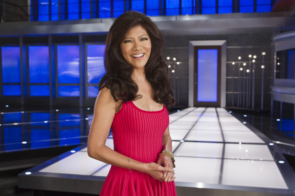 Julie Chen, on the set of 'Big Brother'