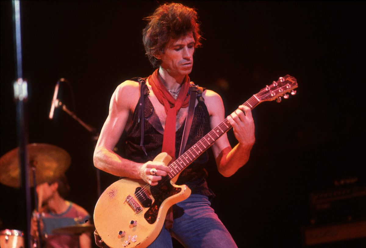 The Rolling Stones Keith Richards with a guitar