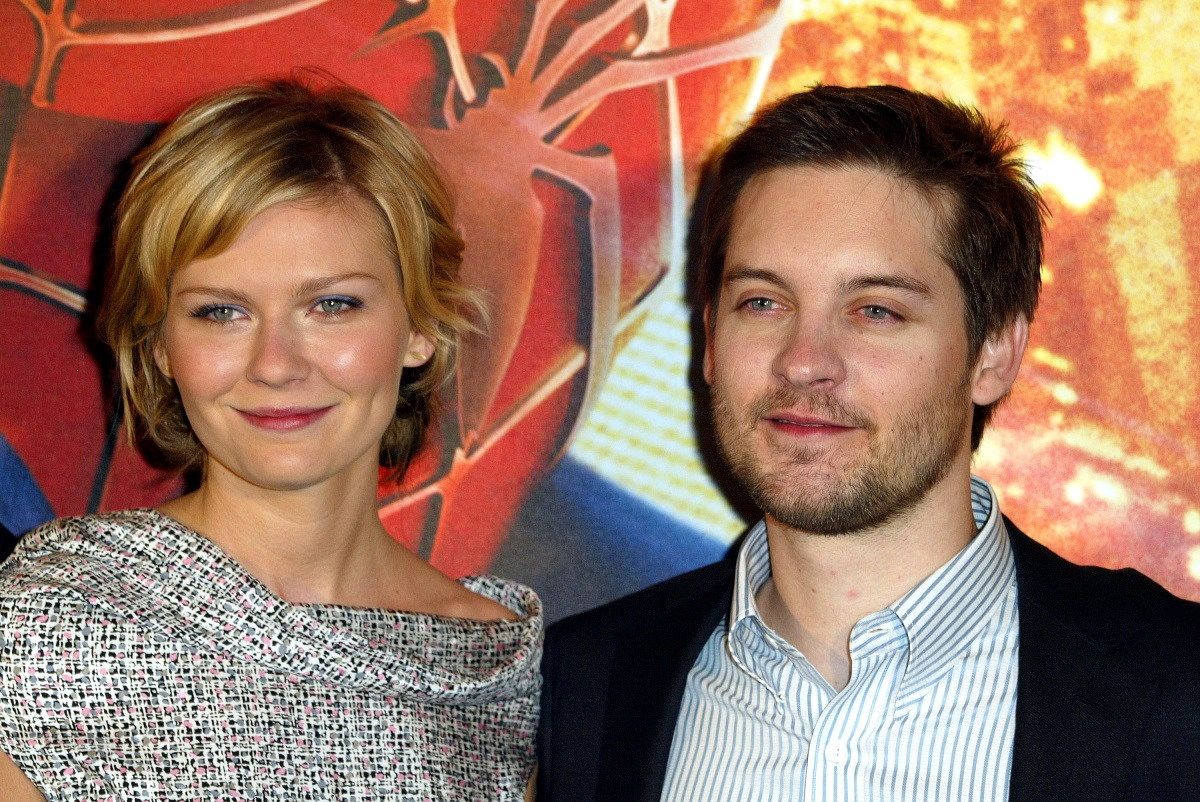 Kirsten Dunst and Tobey Maguire at the Paris premiere of 'Spider-Man 2' in 2004