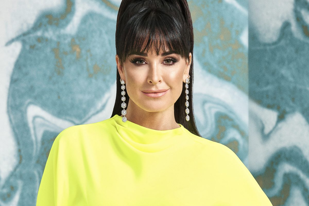 Kyle Richards smiling in her 'RHOBH' Season 10 official photo