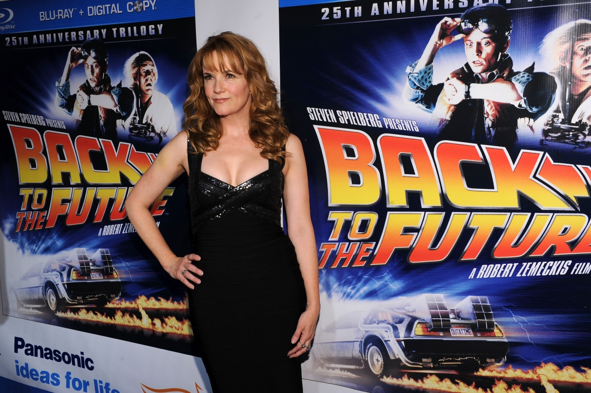 Lea Thompson attends the 'Back to the Future' 25th anniversary trilogy Blu-Ray release on October 25, 2010 in New York City