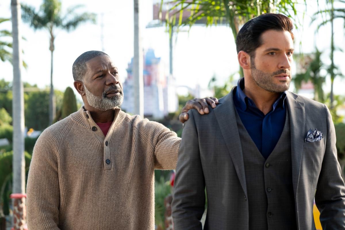 'Lucifer' Season 5B with Dennis Haysbert as God and Tom Ellis as Lucifer