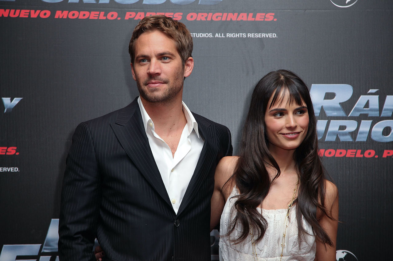 """Paul Walker and actress Jordana Brewster attend the """"Fast & Furious"""" photo call in Mexico City."""