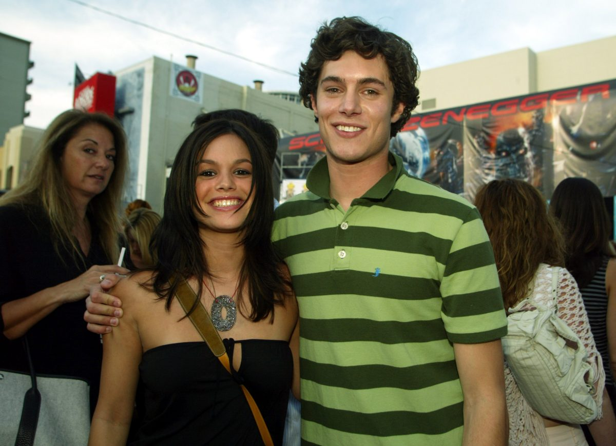 Rachel Bilson and Adam Brody on the red carpet in 2003