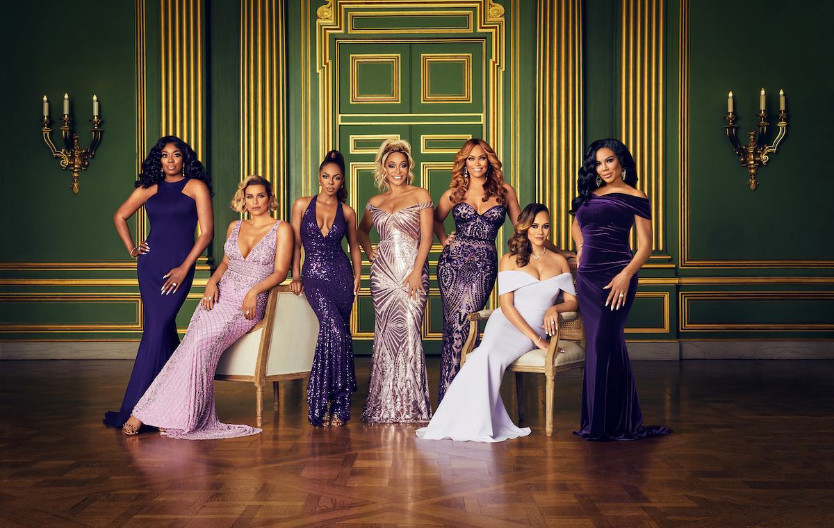 Wendy Osefo, Robyn Dixon, Candiace Dillard, Karen Huger, Gizelle Bryant, Ashley Darby, and Mia Thornton in the 'RHOP' Season 6 cast photo