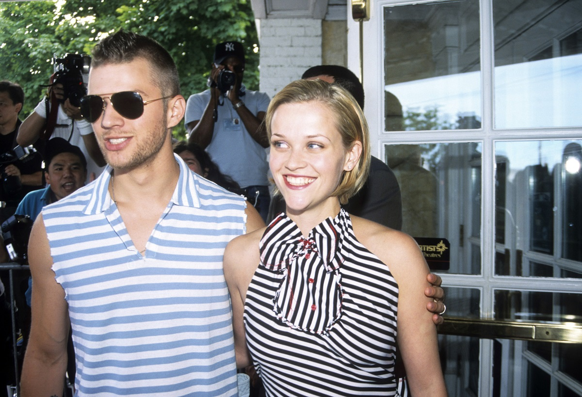 Reese Witherspoon (R) and Ryan Phillippe attend the premiere of 'Legally Blonde' in Southampton, New York, on July 7, 2001.
