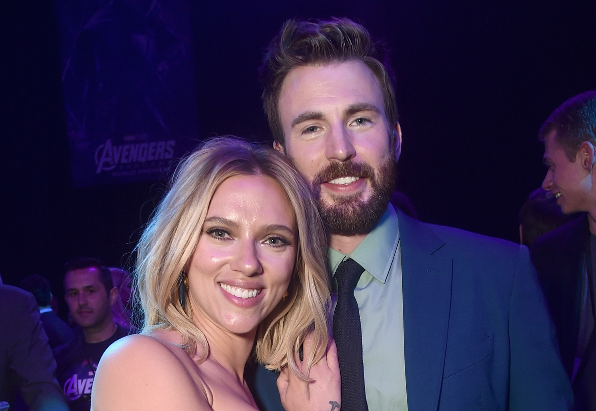 Scarlett Johansson (L) and Chris Evans attend the Los Angeles World Premiere of Marvel Studios' 'Avengers: Endgame' on April 23, 2019.