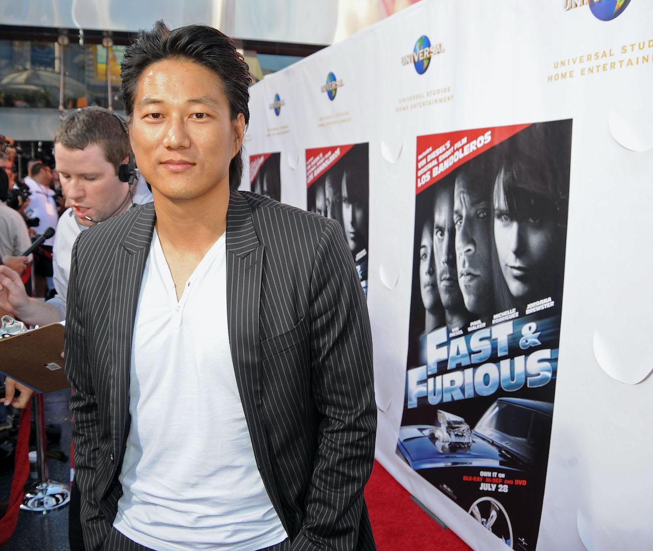 Sung Kang attends  the U.S. Premiere of Vin Diesel's original short film 'Los Bandoleros'