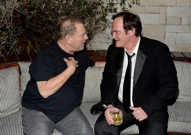 Quentin Tarantino and Harvey Weinstein in 2015