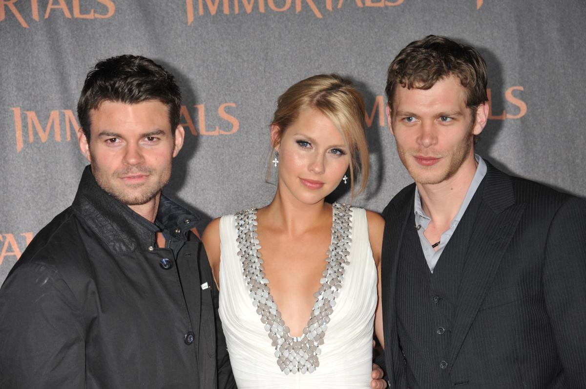 'The Originals' stars Daniel Gilles, Claire Holt and Daniel Joseph Morgan arrive at the premiere of 'Immortals' held at the Nokia Theater