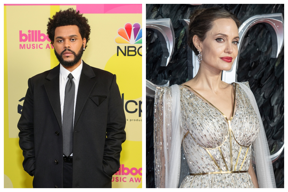 Composite image of The Weeknd (L) and Angelina Jolie