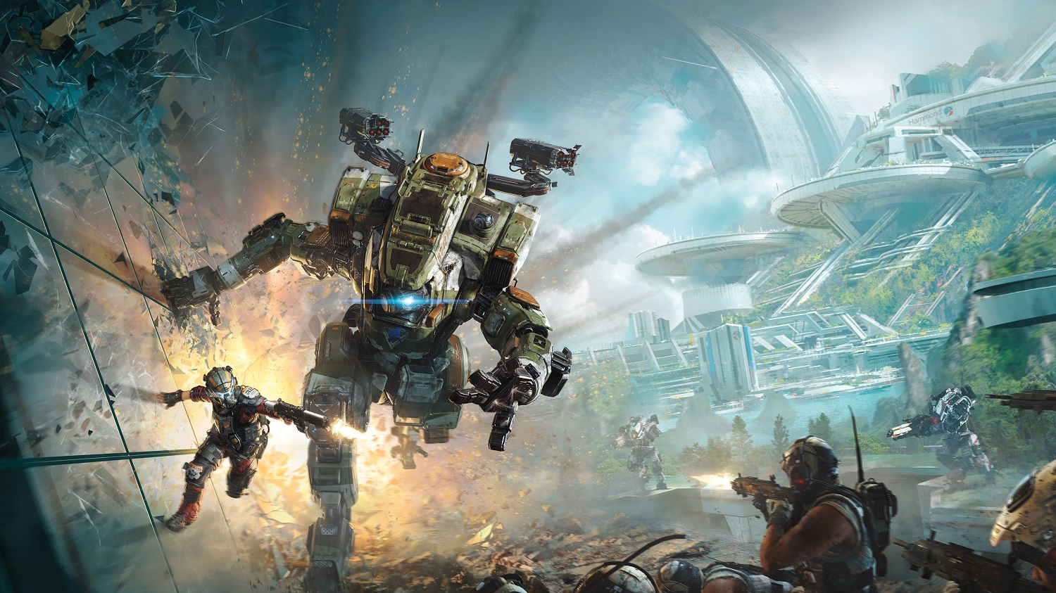 Titanfall 2 promotional artwork -- Jason Garza says the remaining Respawn Entertainment Titanfall team consists of 'one or two' people