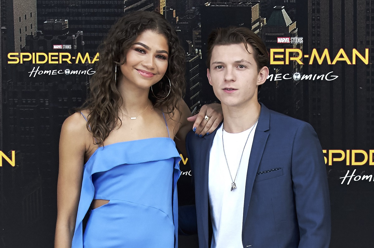 Zendaya and Tom Holland attend 'Spider-Man: Homecoming' photocall on June 14, 2017, in Madrid, Spain.