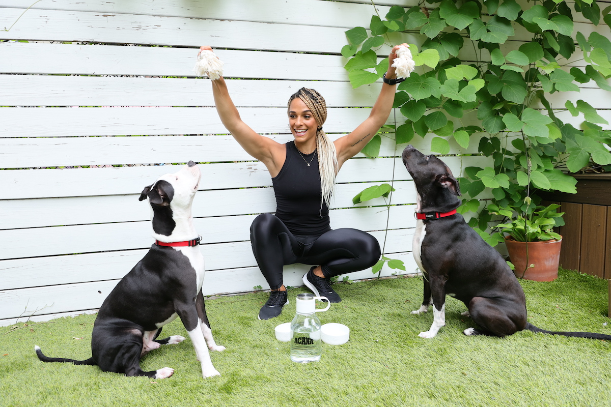 Peloton Instructor and 'dog mom to Shiloh and Sienna Grace, Jess Sims introduces new ACANA® Rescue Care for Adopted Dogs and offers advice to help families integrate activity into both their own lives and their newly adopted dogs' lives as part of the company's Forever Project