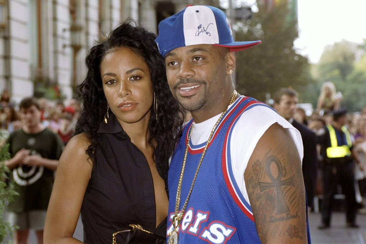 """Aaliyah and Damon Dash attending the premiere of """"The Others"""""""